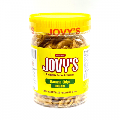 JOVYS Banana Chips 400g